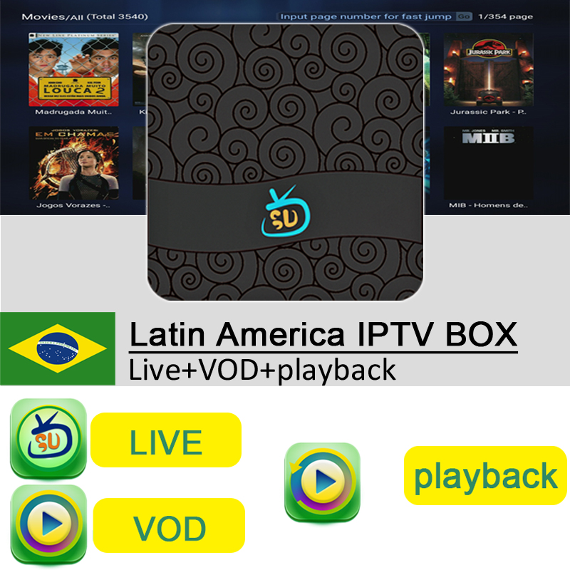 US $95 0 |Gotv Live+VOD+Playback 2years free Android inteligente caixa de  IPTV Latino Brasil 2 Anos canal Livre para Agentina Paraguai -in Set-top