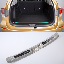 Stainless steel car accessories inner rear bumper foot plate  For Nissan 2018 TERRA abs car accessories car body kits exterior rear bumper foot plate 1pcs for 2018 mercedes benz vito