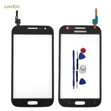 Dokunmatik ekran sensörü Samsung Galaxy Win i8550 i8552 Duos GT i8552 8550 8552 dokunmatik Panel Digitizer ön cam araçları