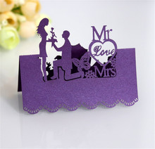 Laser Cut Place Cards Proposal Cutting Paper Carving Name 100pcs