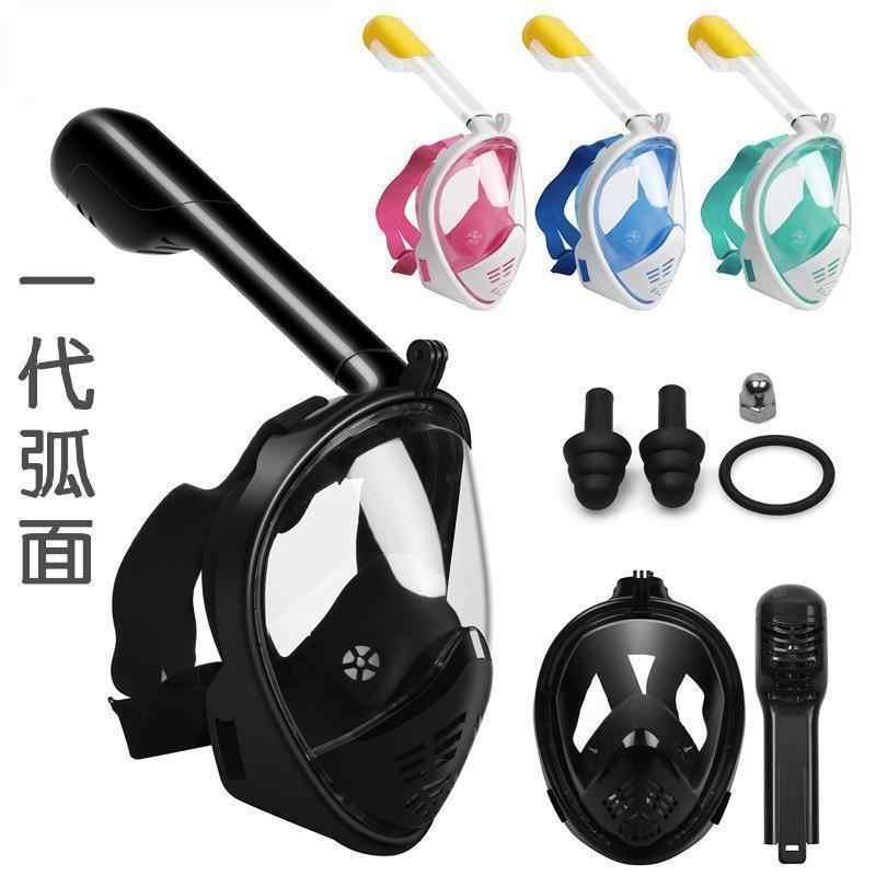 Ademend Spiegel Duiken Masker Full Face Snorkelen Masker Onderwater Anti Fog Snorkelen Duiken Masker Voor Zwemmen Dive Mannen