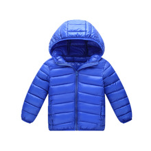 2018 Winter solid unisex lightweight down jacket childrens winter overalls boys and girls