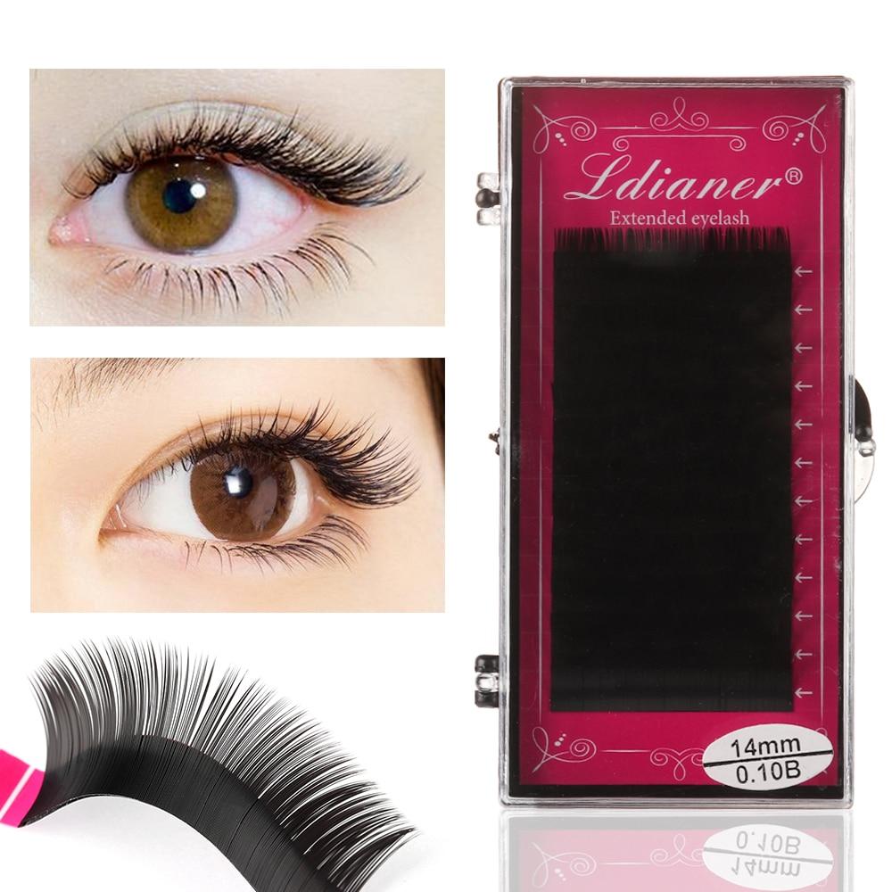 New 12Rows Faux Mink Individual Eyelash Lashes Maquiagem Cilios For Professionals Soft Mink Eyelash Extension Eyelash Extension