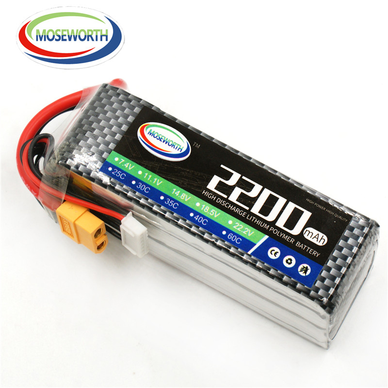 MOSEWORTH RC Lipo Battery 6S 22.2v 2200mAh 35C For RC Helicopter Model Aircraft Quadcopter Drone Car Boat Li-Polymer Battery 6S 1s 2s 3s 4s 5s 6s 7s 8s lipo battery balance connector for rc model battery esc