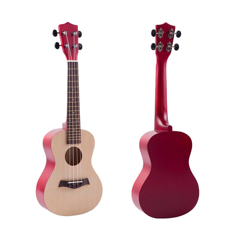 23 Inch Colorful Ukulele Hawaii Four String Guitar Ukelele + String + Pick Suitable for Children & Both Beginners