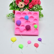 1PCS Balloon Shaped Food Grade Silicone Soap Chocolate Cake Molds Fondant Decorate