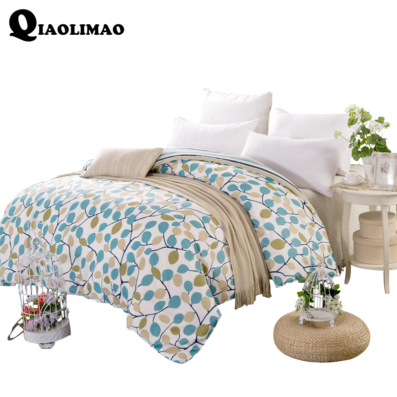 2018 Plant Printed Duvet Cover 100% Cotton Fabric A/B Version Bedding Case Queen King Twin Full Size Quilt/Comforter Cases/Cover