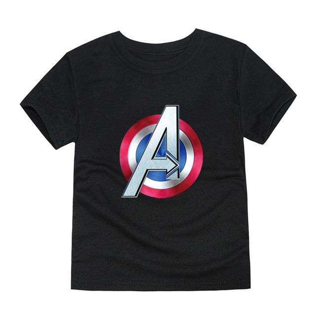kids captain america t shirt summer short sleeve boys girls avengers t-shirt children tops baby tees 12 colors
