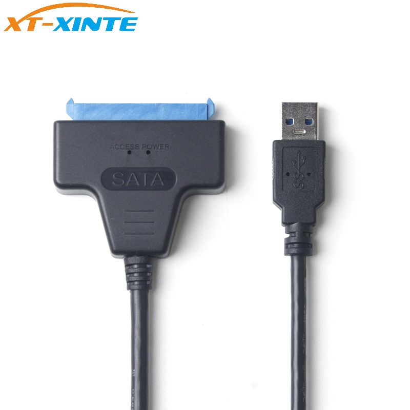 USB 3.0 to SATA III 3 2.5 Inch Hard Disk Drive Adapter Cable 15Pin+7Pin 22Pin OTG for SSD/HDD Solid State Drives PC best price usb 3 0 to sata 7 15 pin 22pin adapter cable for 2 5 3 5inch hard disk drive