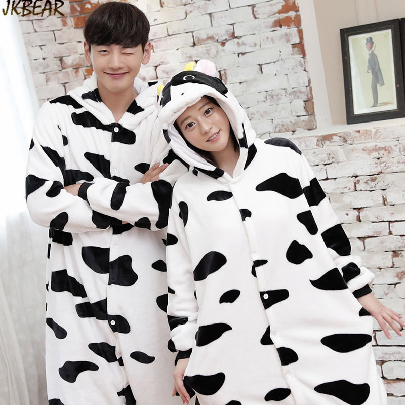 Hot sale Cute Diary Cow Onesies for Teenagers and Adults Flannel Funny  Animal Couples Matching Onesie Pajamas Plus Size PJS S XL on Aliexpress.com  | Alibaba ...