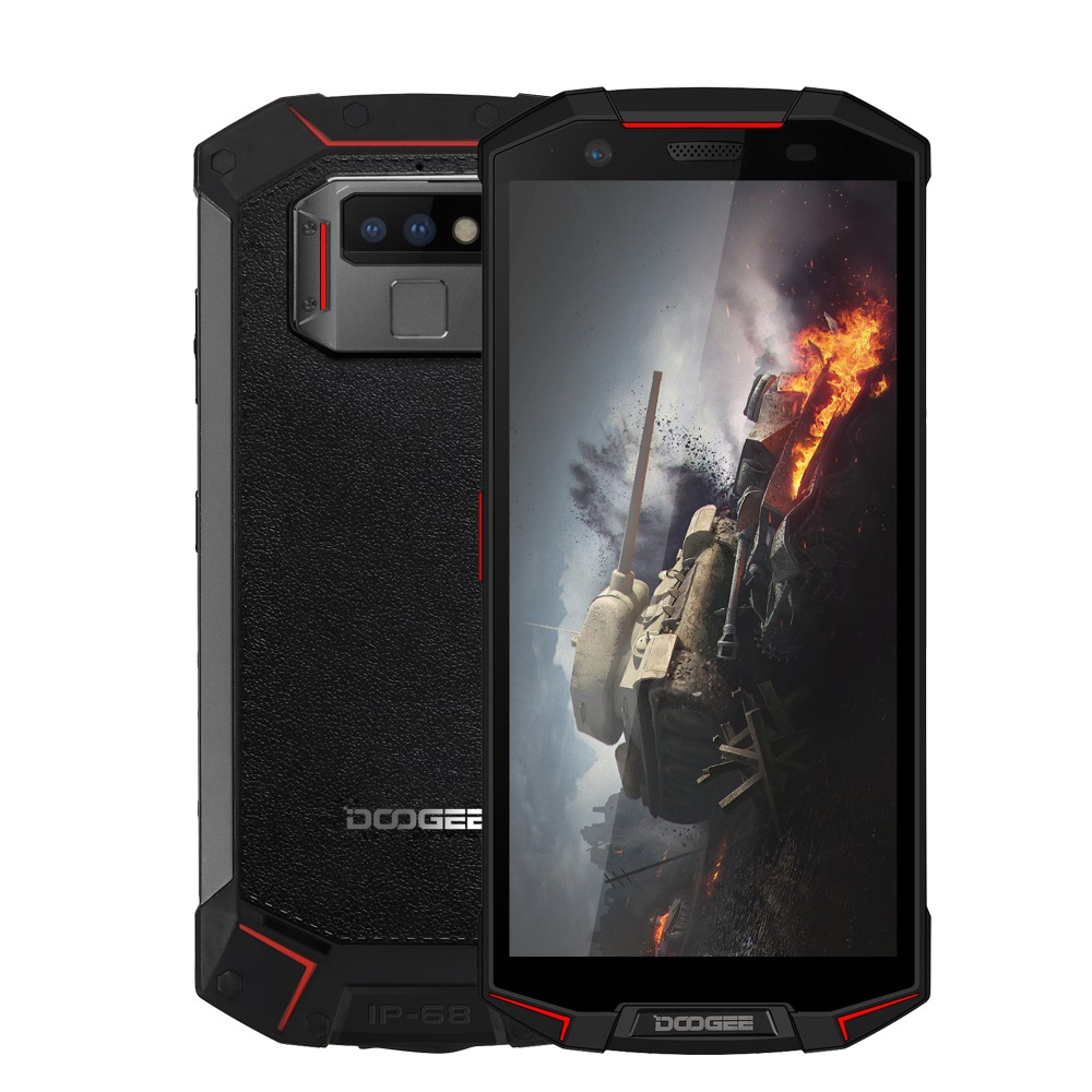 IP68 DOOGEE S70 Lite Rugged Phone 4GB+64GB Dual Back Cameras 13MP Fingerprint ID Smartphone 5.99inch Octa Core Dual SIM NFC GPS