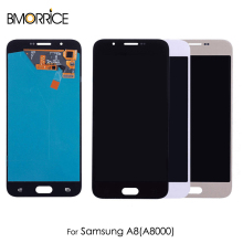 цена на AMOLED For Samsung Galaxy A8 A8000 LCD Display Touch Screen Digitizer OEM Super OLED Assembly Replacement