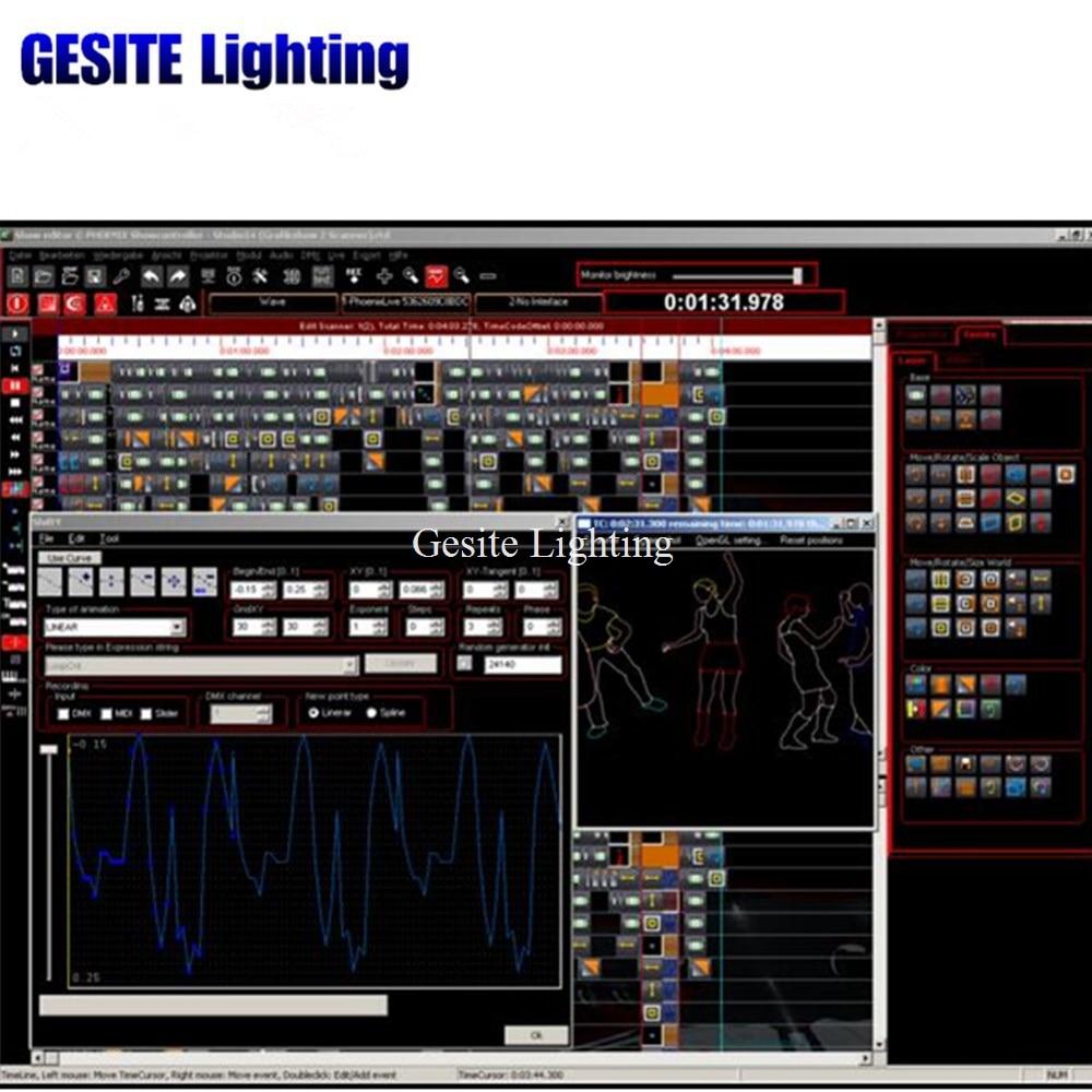 PHOENIX laser light show software, Ilda DMX Laser software USB original ishow3 0 ethernet stage laser light software 64 bit and usb to ilda box