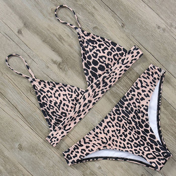Swimsuit Women Leopard Bikini Set