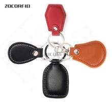Кожаный брелок для ключей EM4100 125 кГц, идентификационный брелок с rfid меткой, карта контроля доступа, кожаный брелок RFID для ключей, маркерное кольцо, датчик приближения