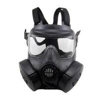 Taktik kafatası yüz maskesi askeri Alan BIZE aktif-görev M50 gaz maskesi CS alan avcılık paintball için kafatası maskesi