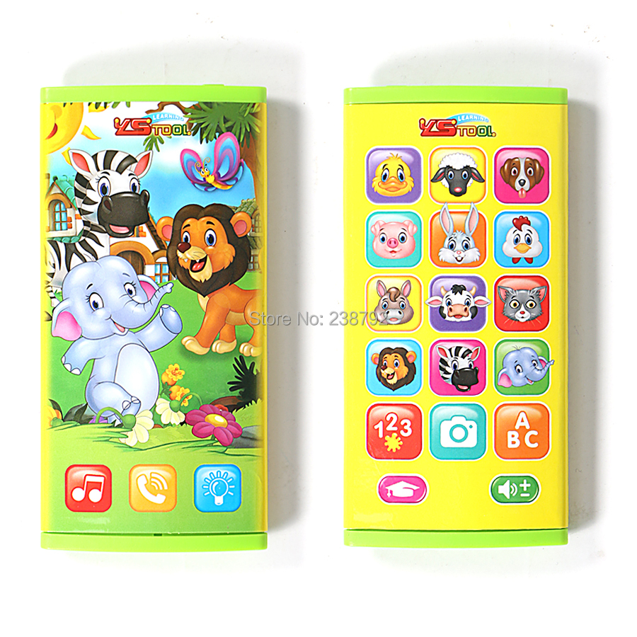 Cartoon Double-sided 360 full screen 23 Different Functions English Learning recognizing Animal Electric Simulation Toys Phone ...