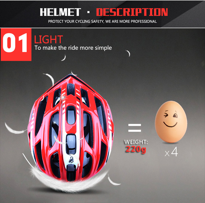 Cycling Helmet Integrally-molded Bicycle Helmet Road Mountain MTB Bike Ultra light Helmet With LED Lights Glasses Bike Equipment (9)