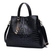 Butterfly Crocodile Women Bag Set 2019 Alligator Women Leather Handbags and Purses Set Luxury Designer Famous Brand Shoulder Bag