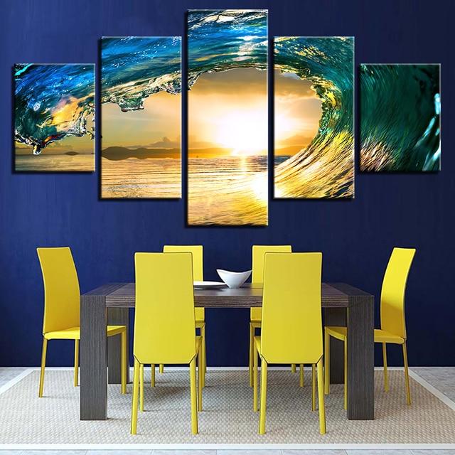 Canvas HD Print Painting Framework Wall Art Poster Modern 5 Panel ...