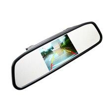 """4.3 """"4.3 pulgadas TFT LCD a Color de Coches retrovisor monitor de vídeo reproductor de DVD audio del coche auto para el Coche cámara de Marcha Atrás"""