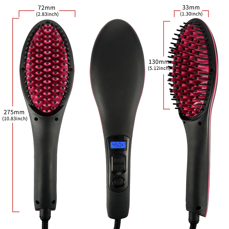 Fast Straightening Ceramic Hair Straightening Brush 7
