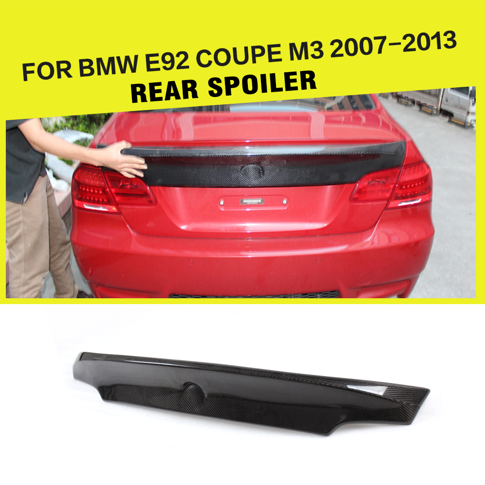 3 Series E92 Car-Styling Carbon Fiber Rear Trunk Spoiler Lip Wings For BMW E92 M3 328i 330i 335i Coupe 2007-2013