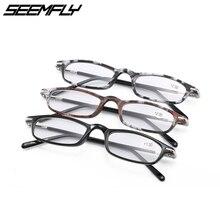 Seemfly New Reading Glasses Men Women Small Metal Frame Presbyopia Eyeglasses Clear Lenses Eyewear Unisex Magnifier +1.0 To +3.5