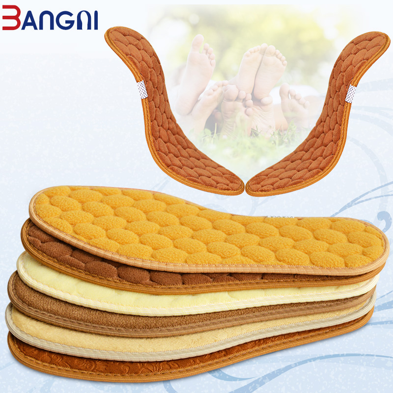3ANGNI Original Thick Thermal Winter Warm Insoles Heated For Man Woman Shoes Soles Insert