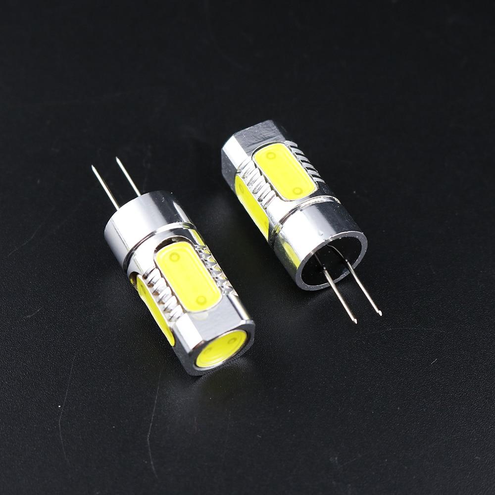1Pcs Led COB light bulb lamp G4 base 7W power DC12V SMD 5 chips 2 colors led lighting indoor use crystal chandelier 51mm L