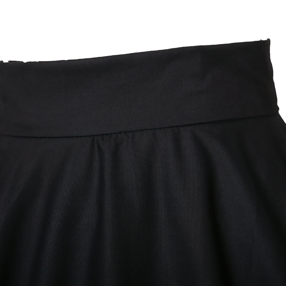 Swing Dance Girl faldas bolsillo XXXL 4XL 5XL 6XL alta cintura rodilla Falda  larga negro rojo Club Rock N Roll 50 s 60 s Revival en Faldas de La ropa de  las ... c5af3cf9fe91