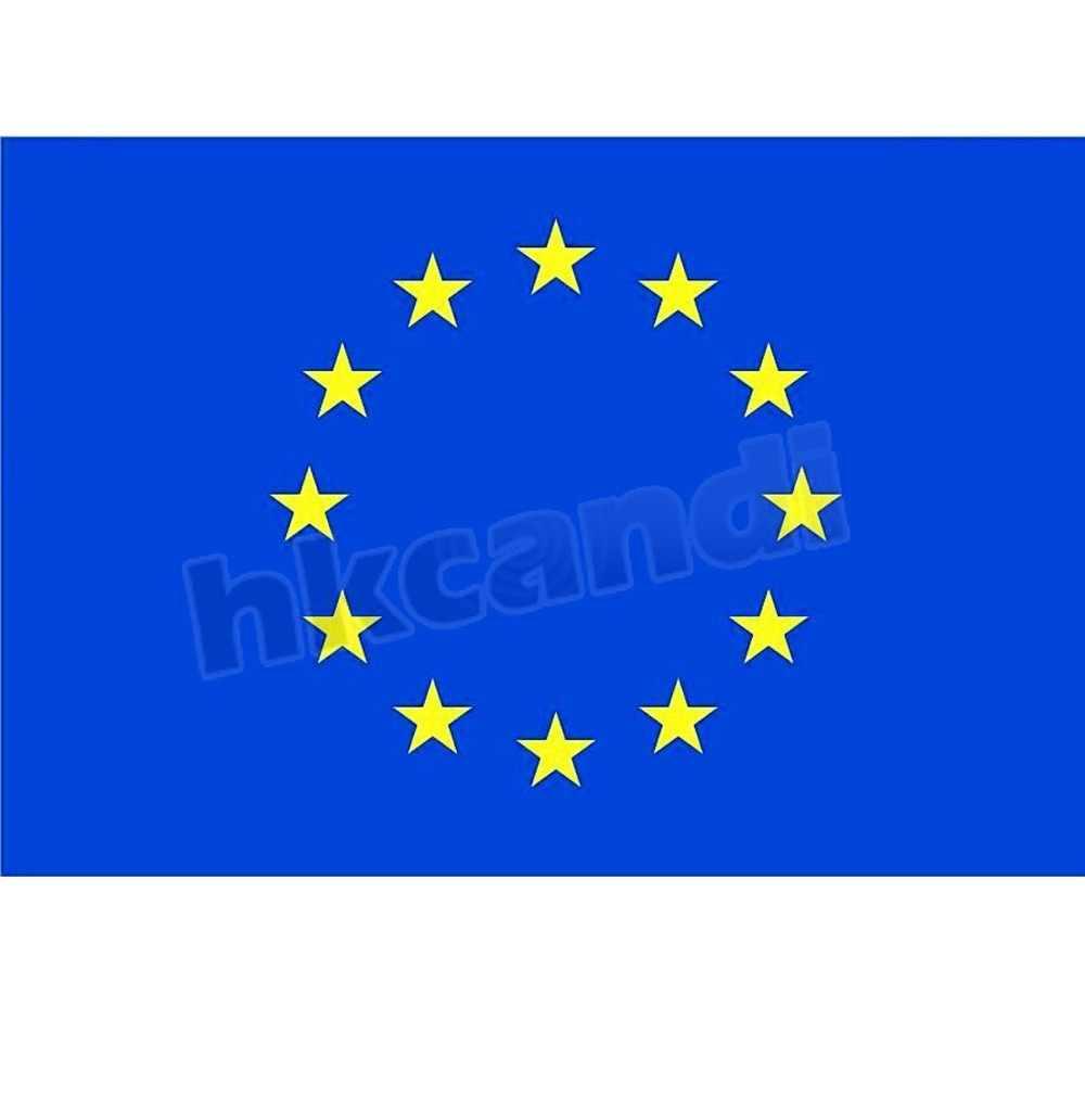 """איחוד אירופאי דגל 3ft x 5ft פוליאסטר דגל לאומיים של האיחוד האירופי חדש 90*150 ס""""מ קישוט בית הדגל באנר"""