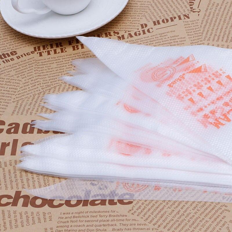 Novo 100 Unidades/pacote Tamanho Pequeno Descartável Tubulação Saco de Confeiteiro Fondant Bolo de Creme de Decoração Pastelaria Ponta Tool Y102 - 3