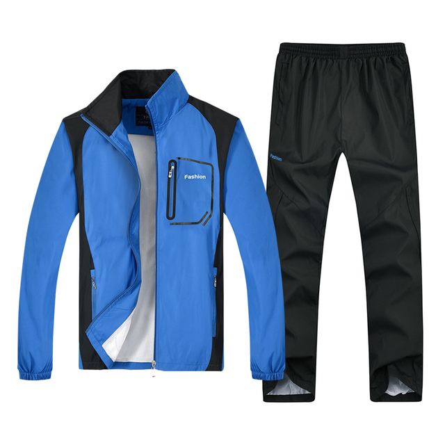 72e952ad New Tracksuit Men set Casual Outdoors sportsuits hoodies Men's sportswear  Autumn Tracksuits Jackets + pants Men's