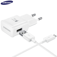 100% Original 5V 2A Samsung Fast Charger with 1M Micro USB Data Cable for Note 4 5 S6 Edge USB Travel Quick Charger 2.0 Adapter