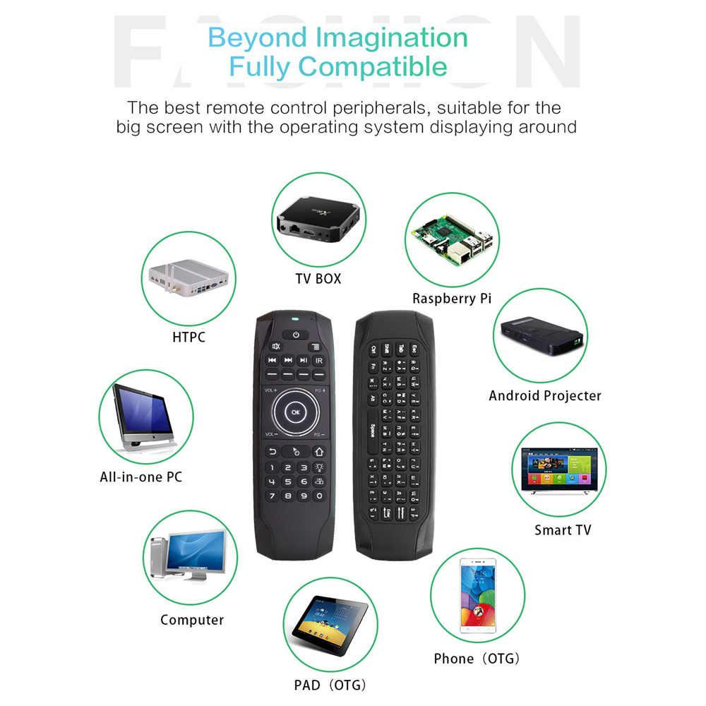 L8star g7 russo backlit voar mouse de ar com ir aprendizagem mini teclado sem fio universal 2.4g controle remoto para android caixa tv