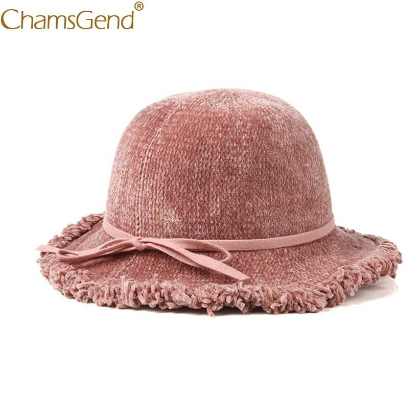 430b173dc78ae ... Newly Design Winter Elegant Hats For Women Tassels Brim Women Fedora Hat  For Wedding Party Feminino ...