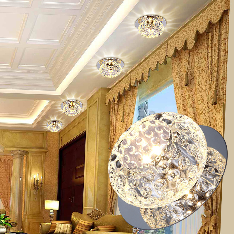 3W 5 Wled Lighting Aisle Background Wall Ceiling Room Hole Lamp Ox Eye Lamp Crystal Corridor