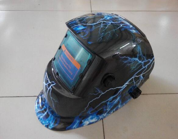 Blue flame spider welding helmet tig / cut face protective mask goggles practical big window good product protective outdoor war game military skull half face shield mask black