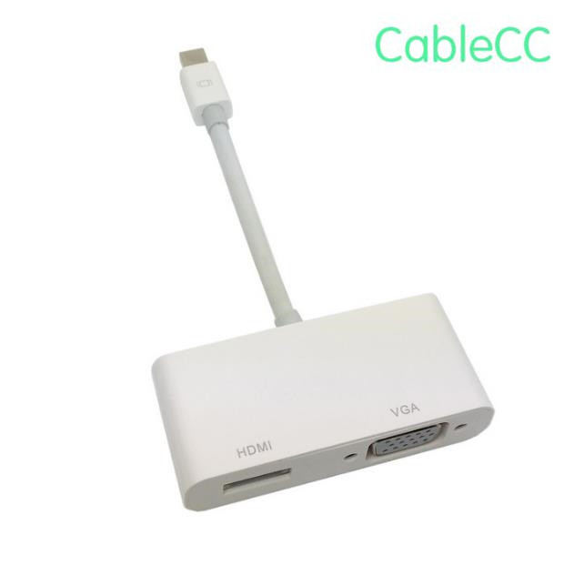 Mini DisplayPort to VGA HDMI Adapter cable 2 in1 for font b Apple b font font