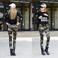 Камуфляж Брюки-Карго Женщины 2016 Военные Брюки Для Женщин Мода Slim Карандаш Брюки Причинные Женщины A1139
