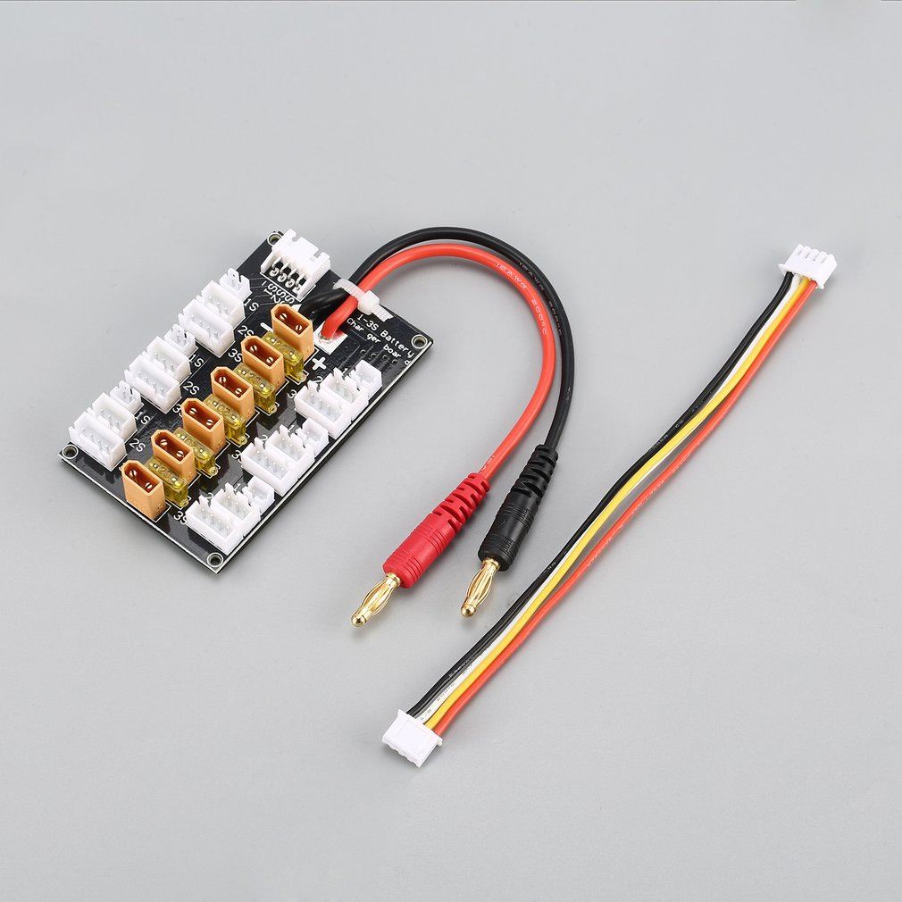 6 Packs XT30 1S 2S 3S 20A XT30 Plug Lipo Battery Parallel Charging Board for IMAX B6 Charger RC Car Drone Balance Charge Part image