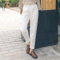GUUZYUVIZ Woman's Jeans Casual Autumn Winter High Waist Pants Women Black Plus Size Denim Jeans Woman Cotton Vintage