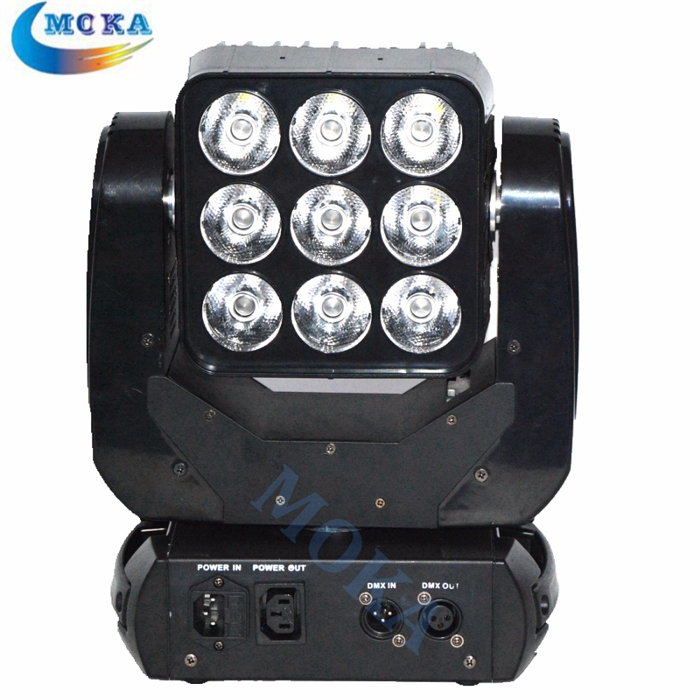 9*10W 4in1 RGBW LED Moving Head Beam Matrix Blinder Light DMX Matrix Moving Head Effect Light Disco Lighting