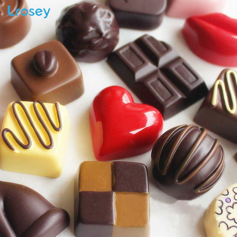 Mô phỏng thực phẩm Chocolate Từ tủ lạnh miếng dán trang trí Nhà Phụ kiện TỰ LÀM bánh thông báo thông tin Tủ Lạnh Nam Châm