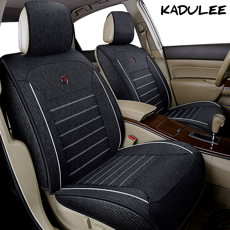 KADULEE flax car seat cover for toyota corolla avensis camry prius aygo chr crown fortuner mark 2 Auto accessories car-styling cool color gradient car body garland car waistline styling sticker for toyota corolla avensis and so on