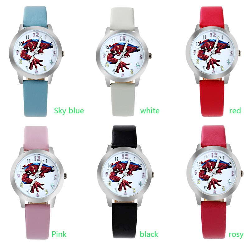 Hot Sale SpiderMan Watch Cute Girl Cartoon Watch Kids Watches Rubber Quartz Watch Gift Children Hour Reloj Montre Relogio Boy
