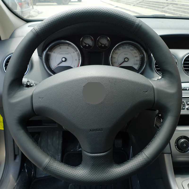 popular leather car steering wheel cover for peugeot-buy cheap