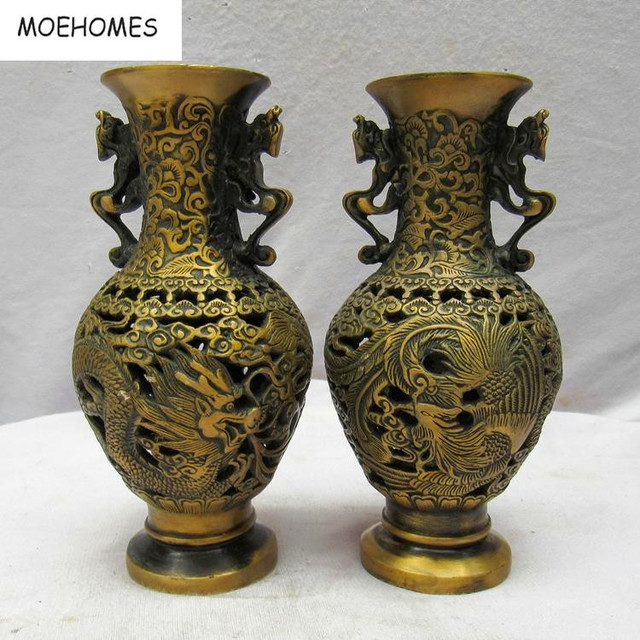 MOEHOMES+pair of Free shipping Chinese Vintage Handwork Brass ...