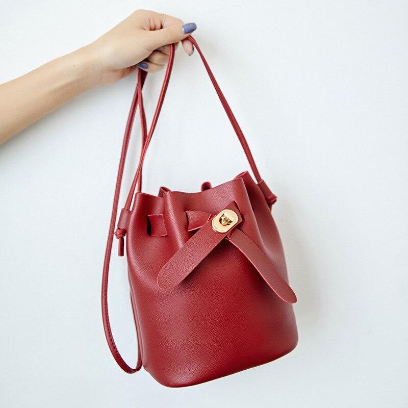 Mini Shoulder Bucket Bag Women Handbags 2019 Female Mobile Phone Change Purse Small Crossbody/Messenger Bag For Teenage Girls